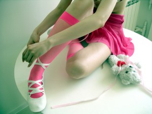 pink stockings